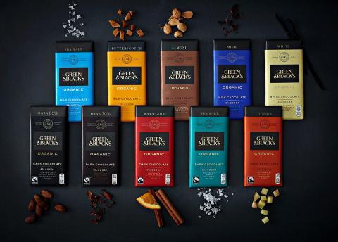 Green & Black's lanserar 10 ekologiska chokladkakor