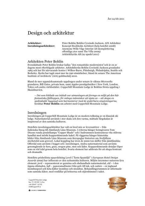 Design och arkitektur