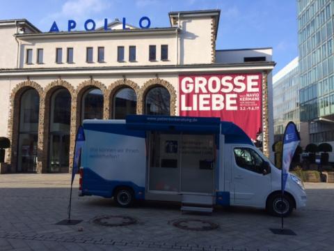 Beratungsmobil der Unabhängigen Patientenberatung kommt am 19. April nach Siegen.
