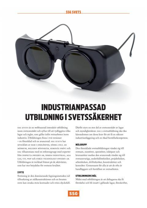 Informationsblad för SSGs svetsutbildning.