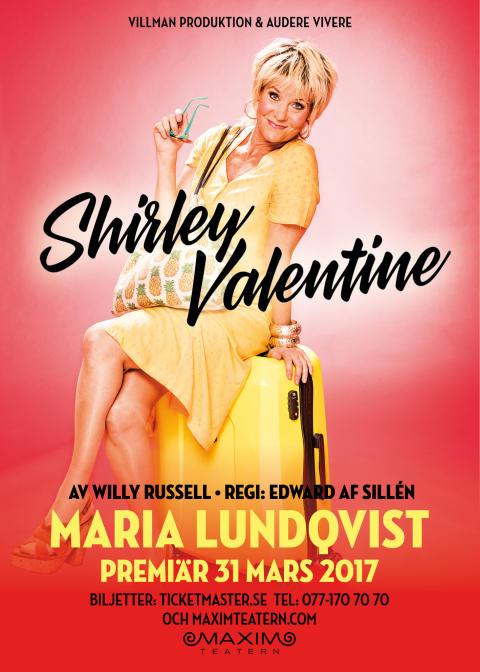 """Maria Lundqvist """"Shirley Valentine"""" Maximteatern 2017"""