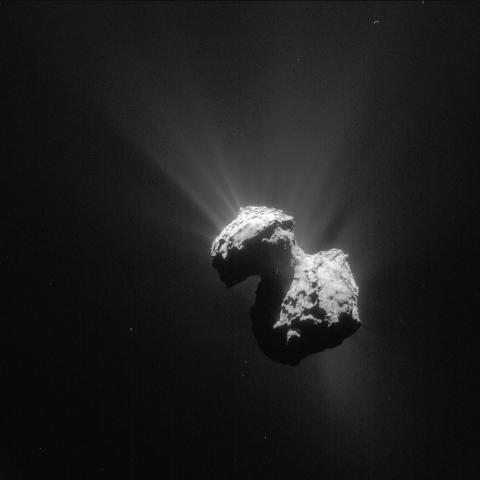 Rymdfarkosten Rosetta och kometen 67P närmar sig solen
