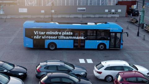 Västtrafik gör uppmärksammad  installation för kollektivtrafiken