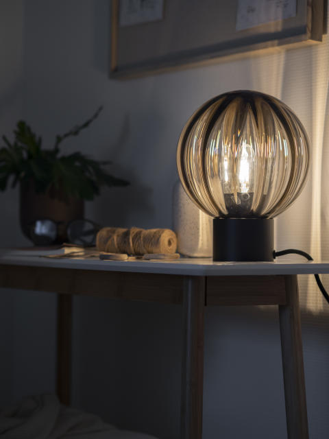 Bordlampe Krystallkule Optikk Kakao