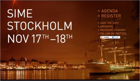 NY Times, Facebook, Google och Gowalla på stjärnspäckat SIME Stockholm 17-18 November