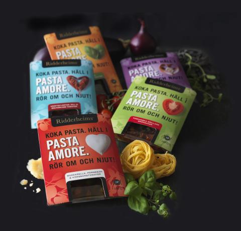 Ridderheims lanserar Pasta Amore – ett nytt koncept i fem kärleksfulla smakkombinationer