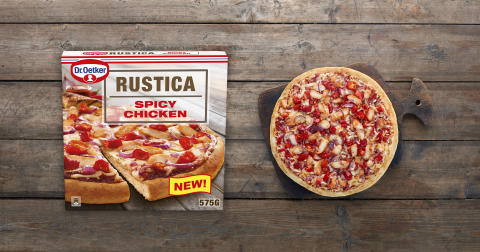 Dr. Oetker lanserer ny southern-style Rustica pizza!