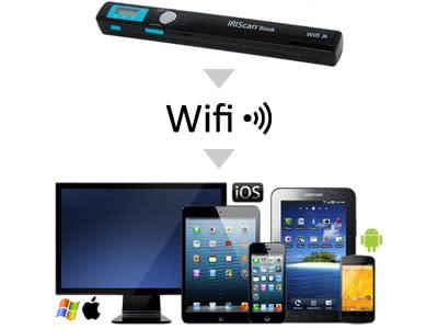 Skanna snabbt och enkelt till din smartphone, surfplatta eller PC/Mac med IRIScan™ Book Executive 3, handhållen skanner.