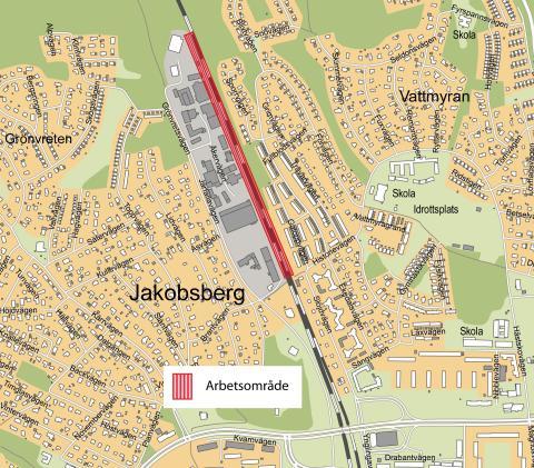 Veidekke uppför stödmur, väg- och ledningsomläggning för projektet Mälarbanan
