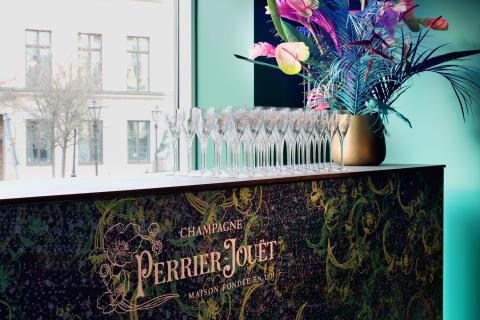 Perrier-Jouët på Bank Hotel