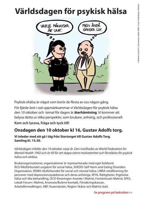 Program för världsdagen psykisk hälsa