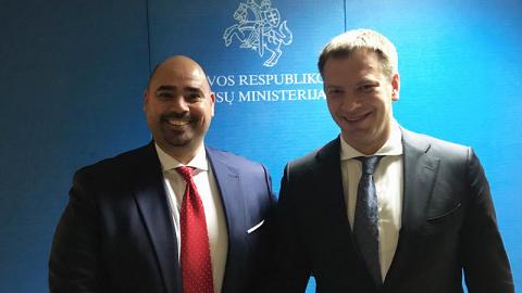 Plexian VD Sami Sulieman och Litauen Finansminister  Vilius Sapoka