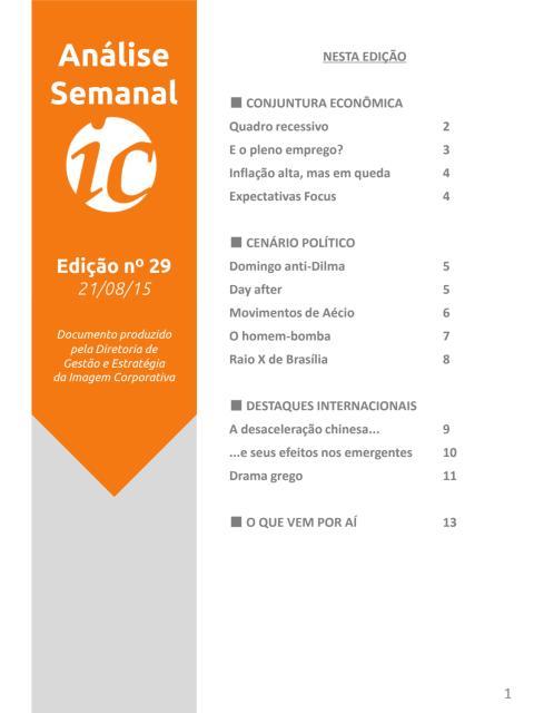 Análise Semanal IC - 21.08.2015