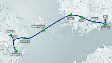 Fast förbindelse mellan Stockholm och Helsingfors på 30 minuter