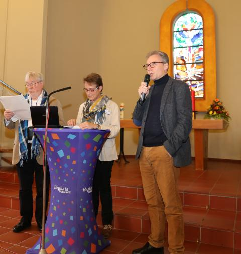 Diakon Claus Limberg, Diakonin Anita Zimmermann und Maik Dietrich-Gibhardt (von links).