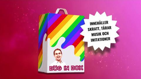 Magnus Carlsson till Falu Pride med succéshowen Bög In Box