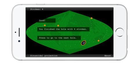 Spela minigolf och lär dig förstå kartan