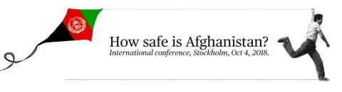 Pressinbjudan: How safe is Afghanistan? 4 oktober