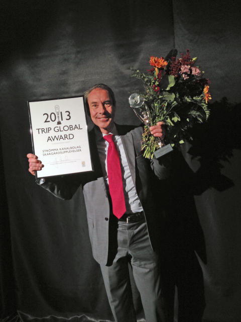 Peter Henricson, Affärsområdeschef Sverige med TRIP Global Award