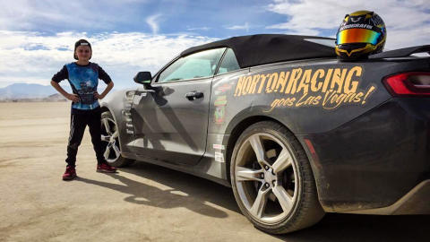 Kartinglöftet Norton Andreasson till USA med hjälp av Bryntesson Motorsport