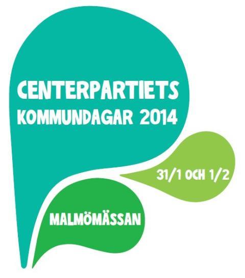 PRESSINBJUDAN: Välkommen till Centerpartiets kommundagar i Malmö 31/1 – 1/2 2014