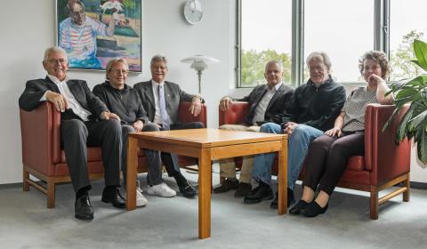 Borgmesteren og gruppeformændene fra partierne bag budgetaftalen