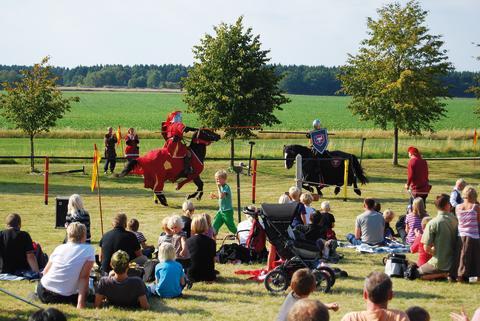 Svenske riddere i kamp fejrer 400 års fred med Danmark