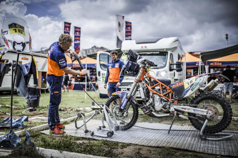 Mechanics Matthias Walkner Dakar 2017