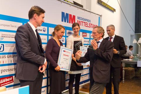 11. Medienpreis Mittelstand verliehen - Wirtschaftsjunioren Deutschland zeichnen Journalisten aus