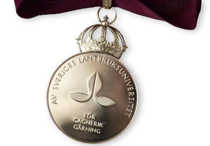 SLU:s förtjänstmedaljer 2014 till Uggla, Johansson och Ahrens