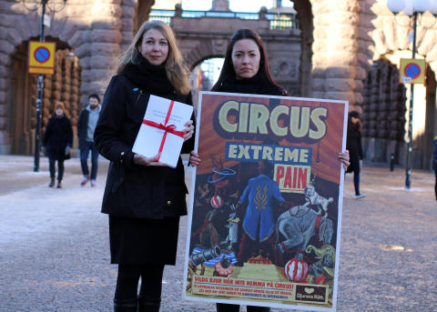 Call to the Swedish government to ban wild animals in circuses