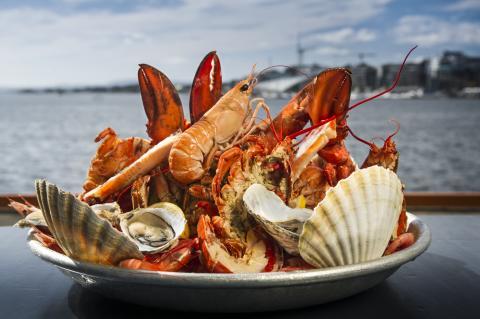 Seafood, eines der Spitzenprodukte norwegischer Restaurants