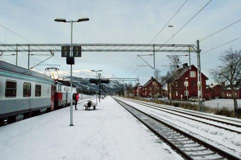 SJ nattåg vid Abisko Östra