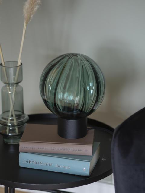 Bordlampe Krystallkule Optikk blågrønn