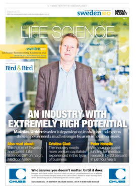 """SwedenBio's """"Life Science"""" challenges current views of Sweden's traditional industries"""