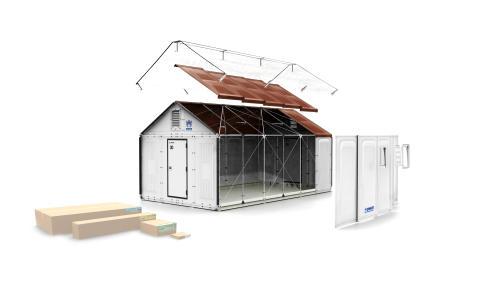 Bättre hem för flyktingar, insprirerat av IKEA och finansierat av IKEA Foundation