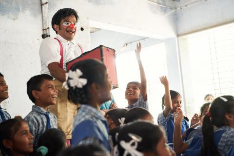 Clowner utan Gränser i Indien
