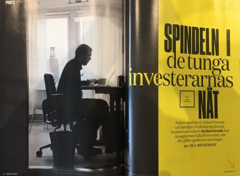 Reportage om Stefan Krook i Veckans Affärer