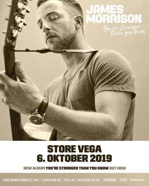 Soulsangeren/ sangskriveren James Morrison kommer tilbage til Store VEGA