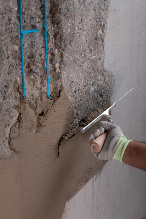 Reparasjon av betongskade 01