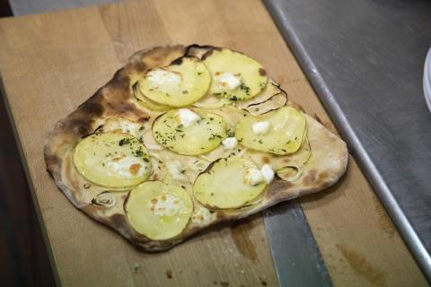 Pizza Bianco - en af retterne fra prøvetimen
