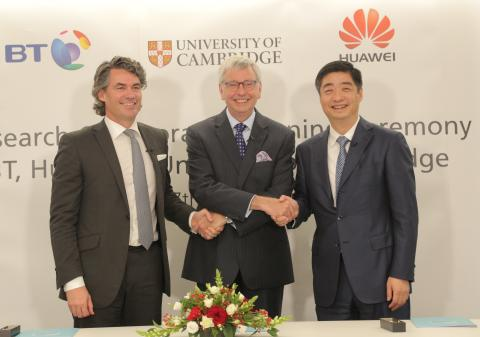 BT and Huawei to base £25 million R&D group at the University of Cambridge