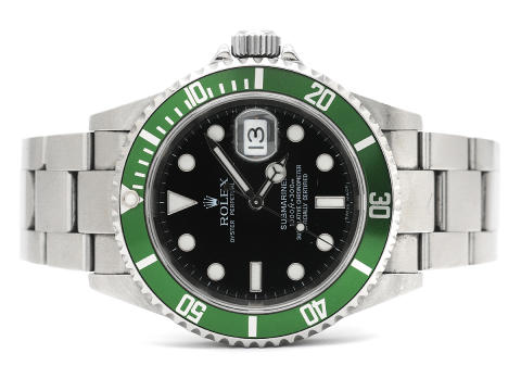 Klockor 31/5, Nr: 170, ROLEX, Oyster Perpetual Date, Submariner (1000ft=300m, Green Mark IV