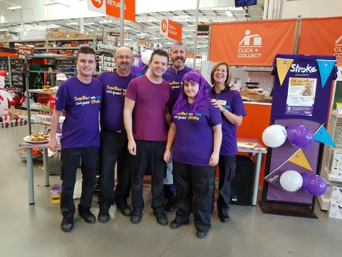 B&Q staff raise some serious dough for the Stroke Association