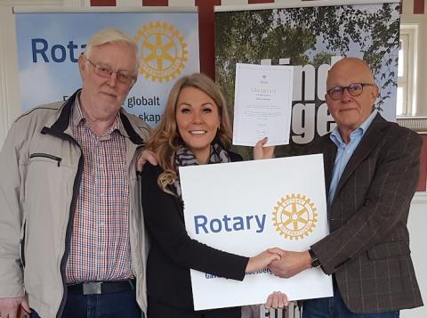 Lindesbergs Rotaryklubb stödjer Star for Life-programmet
