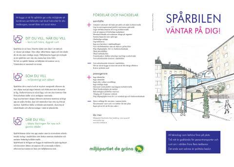 Karta med förslag till spårbilsnät i Stockholm