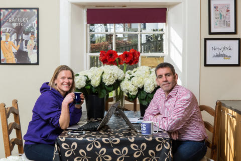 Blossoming business in West Linton thanks to Digital Scotland Superfast Broadband