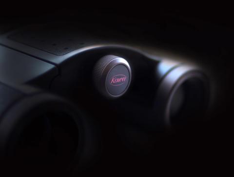 Kowa Genesis 22, detaljbild med svart bakgrund