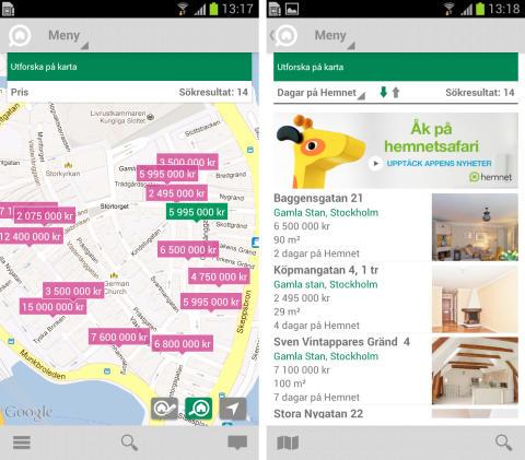 Hemnet lanserar ny app för Android