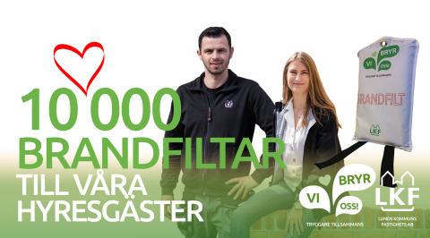 10 000 brandfiltar till våra hyresgäster!